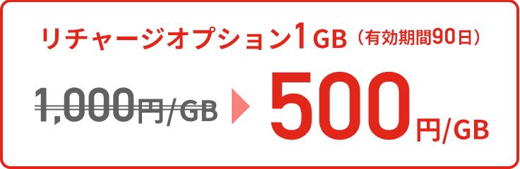 リチャージオプション1GB