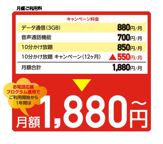 月額1,880円