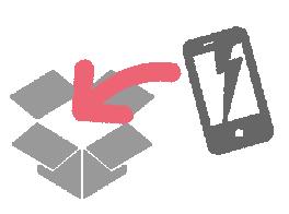 イメージ:故障端末の送付